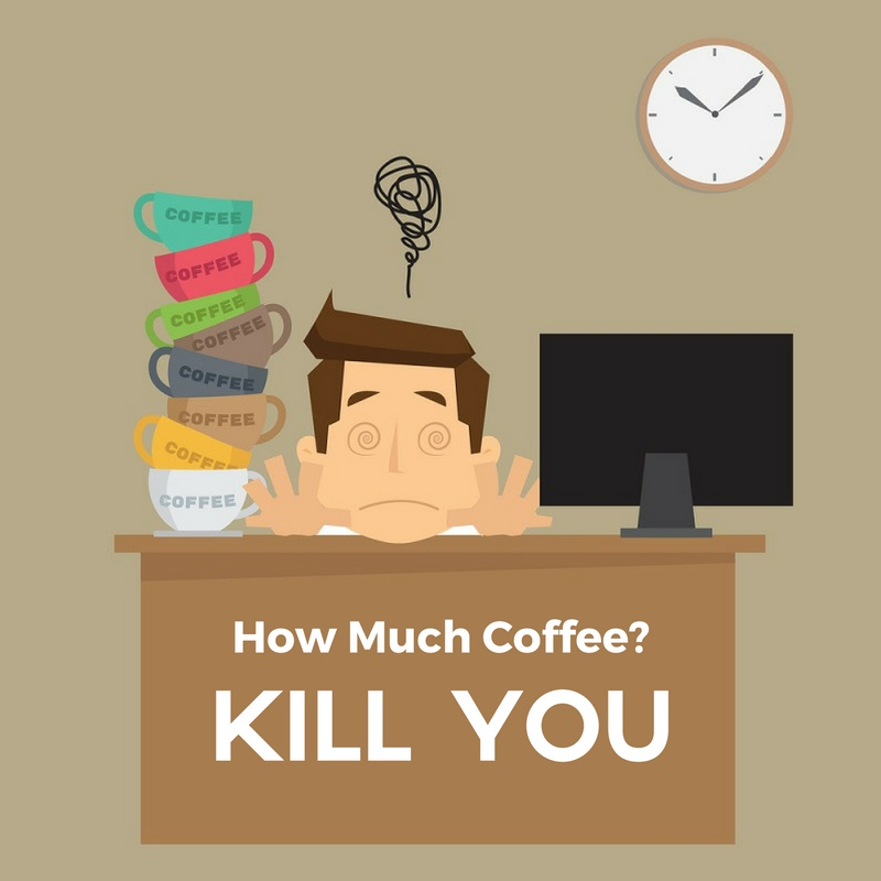 Infographic: How Much Coffee Will Kill You?