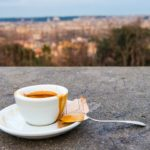 A-traditional-Italian-espresso-on-a-concrete-ledge