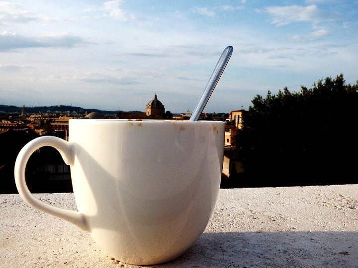 Cup-of-Espresso-on-a-roof-of-Rome